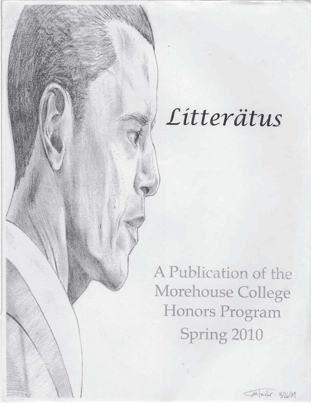 Litteratus Spring 2010 Cover Image